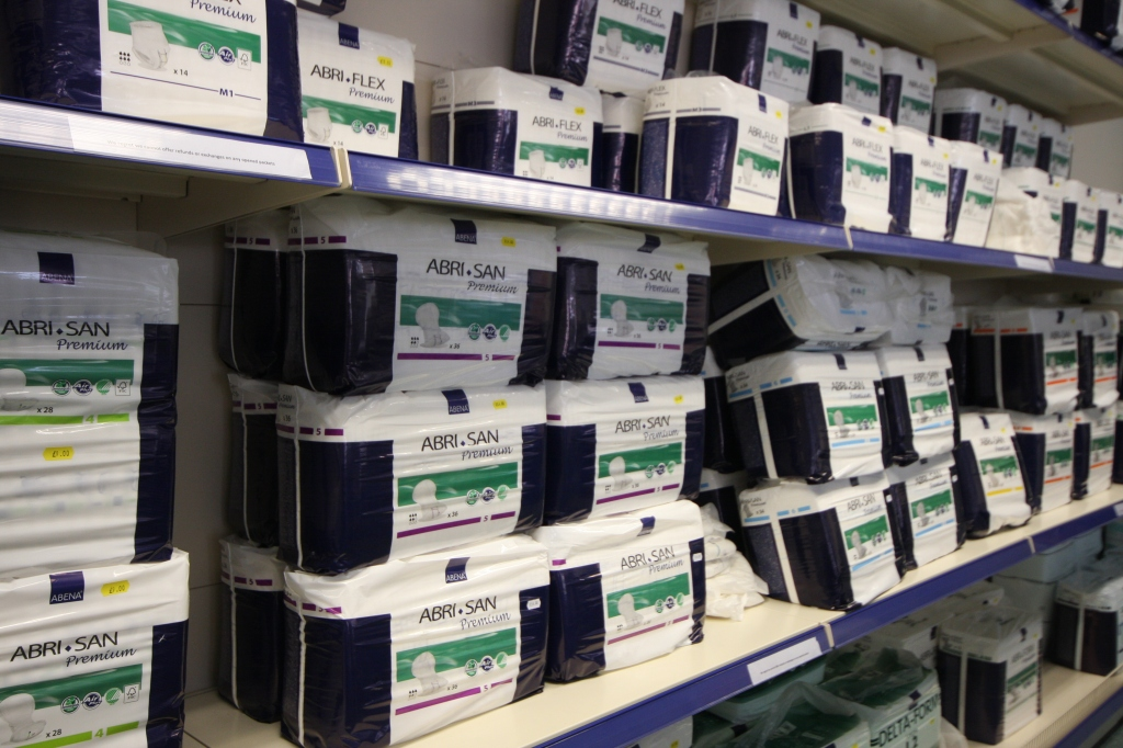 Photograph of the Abena continence care products we stock. #continencecare #Abena #Carlisle #Cumbria #Disability
