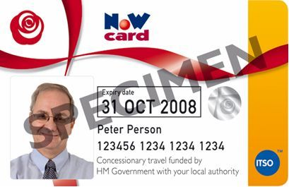 Photograph of a NoW card.